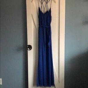 Rebecca Taylor full length chiffon dress